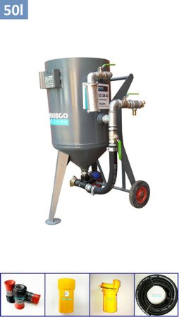 BASIC manual controlled sand blasting package 50L