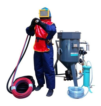 Compressor ALUP SCK 25, 2,91 m3/min and COMPLETE soda blasting package 100L